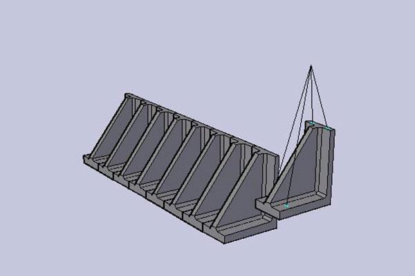 中央防波堤L型ブロック政策据え付け