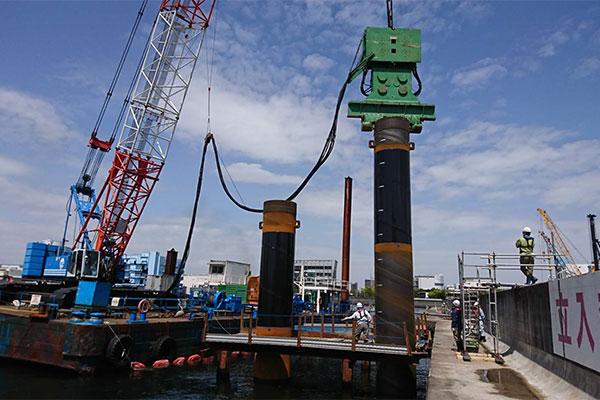 横浜恵比須リサイクルセンター係留設備建設工事